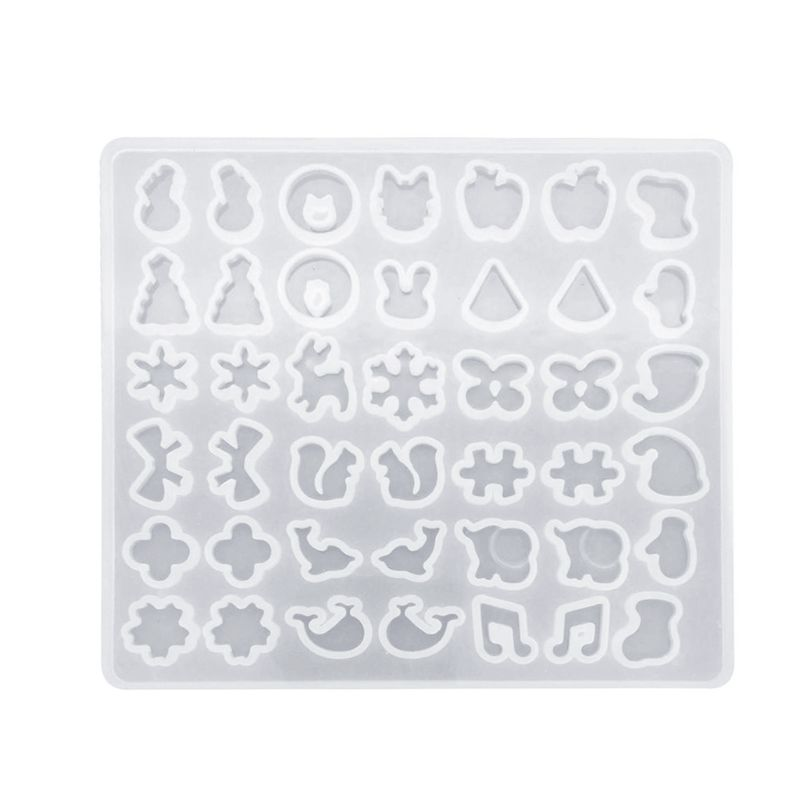 DIY Silicone Ear Stud Earring Mold Jewelry Pendant Epoxy Resin Casting Mould Making Tool Craft Decorative