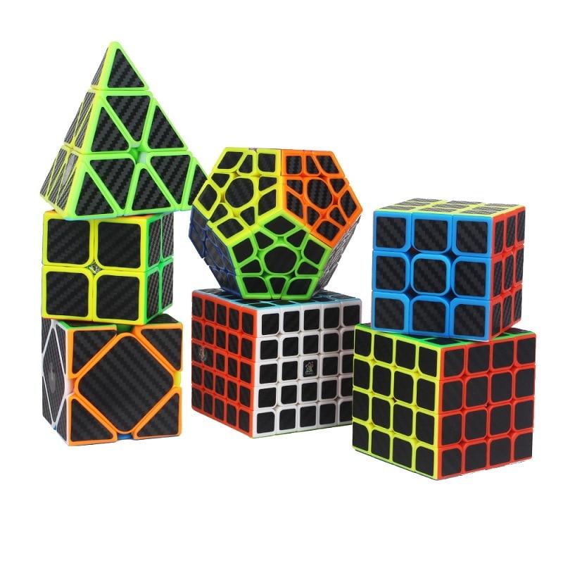 Carbon Fiber Cube Alien Oblique Pyramid Cubo Toy Magico Magia Juguetes Educativos Cubes Toys Speedcube 3x3x3(China)
