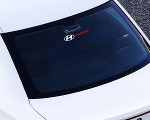 Image 5 - 1 قطعة/المجموعة سيارة شعار الجانب نافذة WindshieldStickers صائق الديكور ل هيونداي إلنترا سولاريس سوناتا Veloster سانتافي GDI