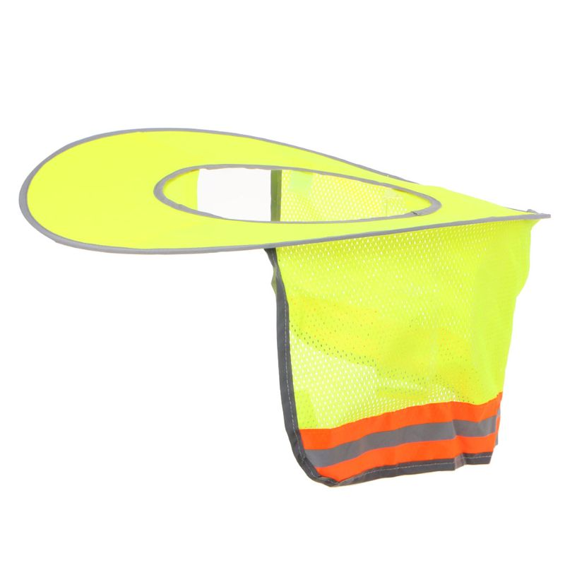 Reflective Stripe Neck Shield Safety Hard Hat Cap Sun Shade Protective Helmets Workers Cover Summer