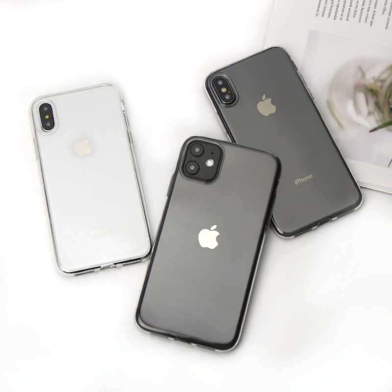 クリア電話ケースiphone 7ケースiphone xrケースシリコンiphone 11 12プロミニxs max x 8 7 6sプラス5 5s、seケース