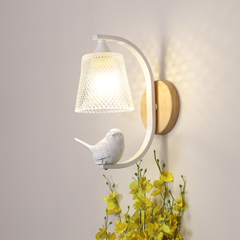 Nordic Bird Lamp Sconce Wall Light Bedroom Lamp Modern Wall Lights for Home Deco Wall Lamp Indoor Lighting Living Room Lamps Led modern home led acrylic wall lamp ac85 265v wall mounted sconce lights lamp decorative living room bedroom corridor wall lights