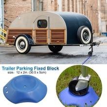 Reboque estacionamento fixo camper bloco anti skid/pneu rvs rvs 5 roda caravana estacionamento ao ar livre ferramenta 30.5x5cm
