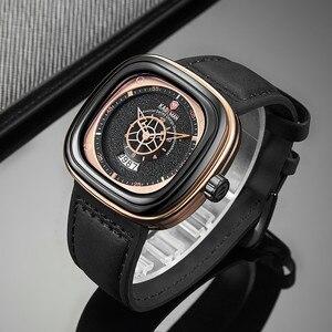 Image 4 - 2020 นาฬิกาสุดหรูผู้ชายนาฬิกาแฟชั่นควอตซ์นาฬิกายี่ห้อKADEMAN Casualหนังนาฬิกาข้อมือRelogio Masculino