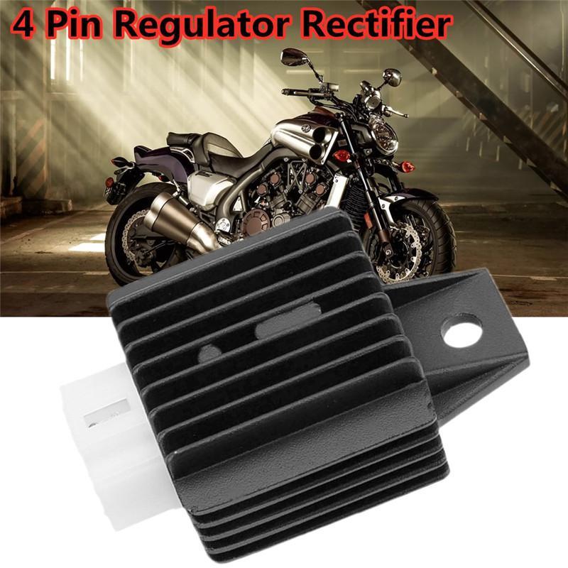 Regulador de voltaje de 4 pines rectificador accesorios de coche ciclomotor Scooter Quad ATV 90CC 110CC 125CC 140CC 200CC