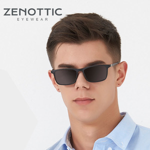 Image 2 - ZENOTTIC 2 in 1Polarized Sunglasses Magnetic Clip On Optical Glasses For Men Bendable Square Spectacl Clip On Shade Eyeglasses