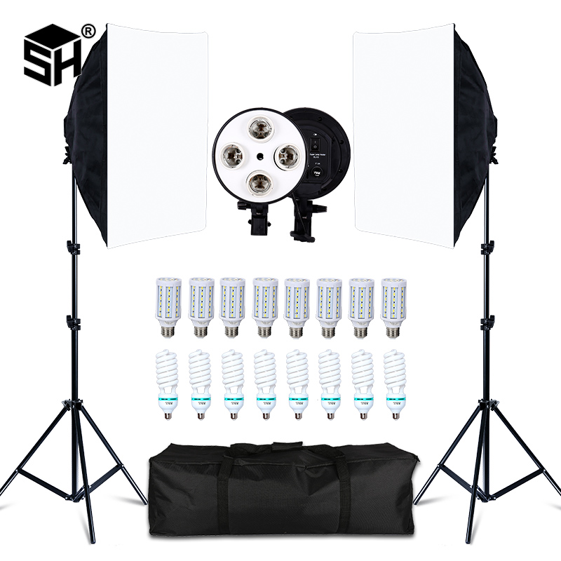 8-Led-20w Softbox-Kit Light-Stand Camera Photographic-Lighting-Kit Photo-Accessories