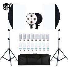 사진 스튜디오 8 LED 20W Softbox 키트 사진 조명 키트 카메라 및 사진 액세서리 2 라이트 스탠드 2 Softbox for Camera Photo