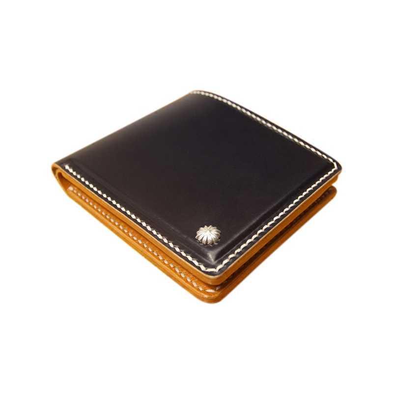 Jiangxin ปรับแต่ง Stirrup หนังหัวเข็มขัดเงิน 925 Handmade Vintage กระเป๋าสตางค์ผู้ชาย