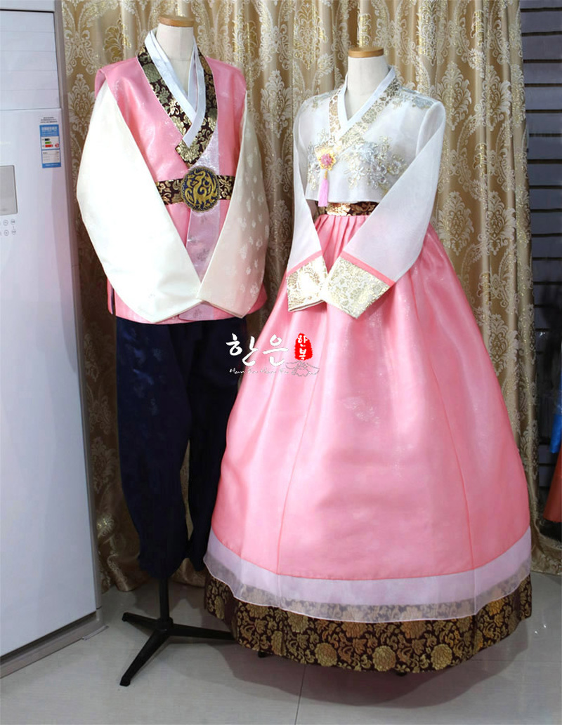 Korean Imported Fabric / Bride Groom Wedding Hanbok / Couple Hanbok / Wedding Dress