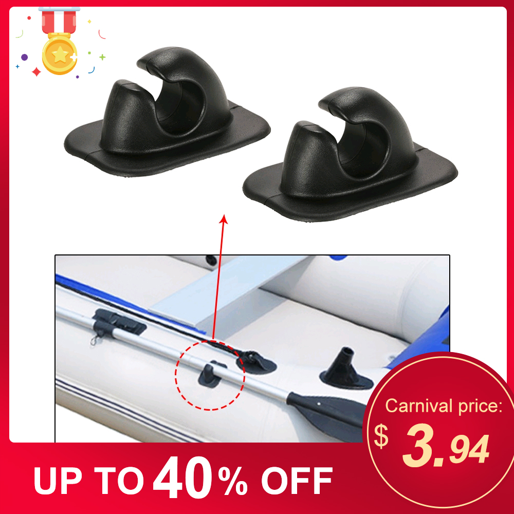2019 2pcs Oar Rowing Pole Paddle Clips Holder Mount Patch For Inflatable Boats Dinghy Boat Kayak Accessories Kayaks Tools
