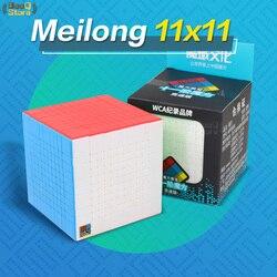 Moyu Meilong Cubo de velocidad 10x10 Magic11x11x11 Cubo de rompecabezas de 10x10 Cubo Magico Cubo 11x11 Cubo profesional sin adhesivo para niños Juguetes