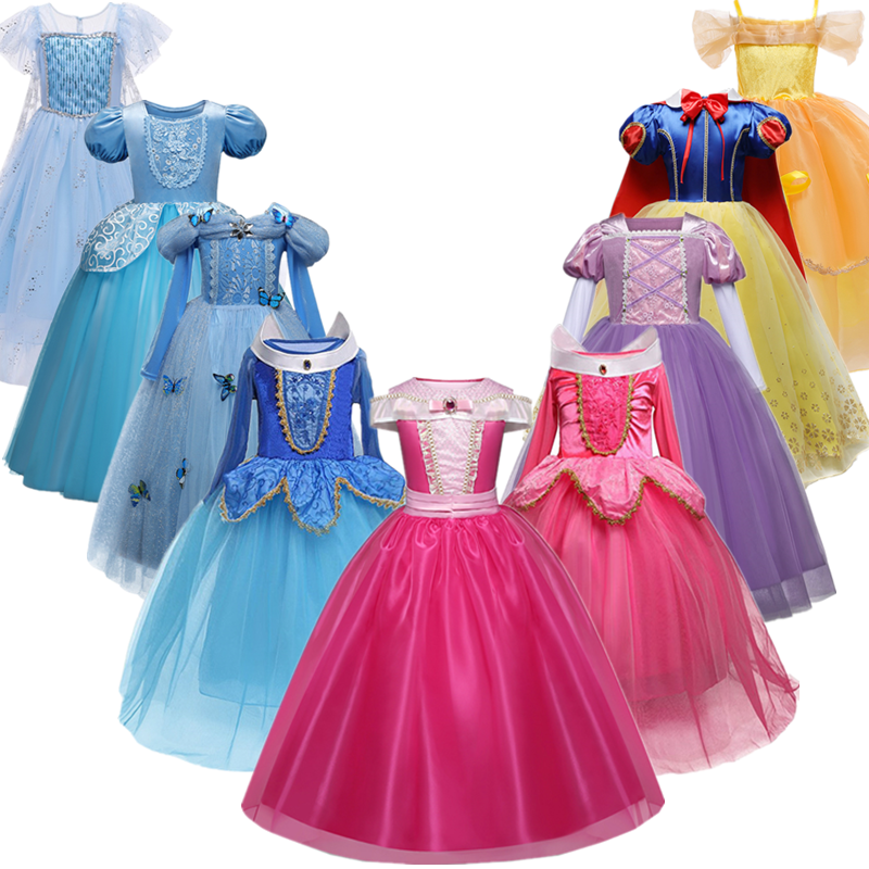 Платье принцессы для девочек; Костюм на Хэллоуин; Праздничная одежда для дня рождения для детей; Vestidos Robe Fille; Нарядное платье для девочек|Платья| | АлиЭкспресс