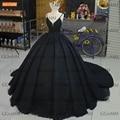 Роскошные черные вечерние наряды 2020, бальное платье для вечеринки на шнуровке, женские платья, строгие Вечерние наряды на заказ