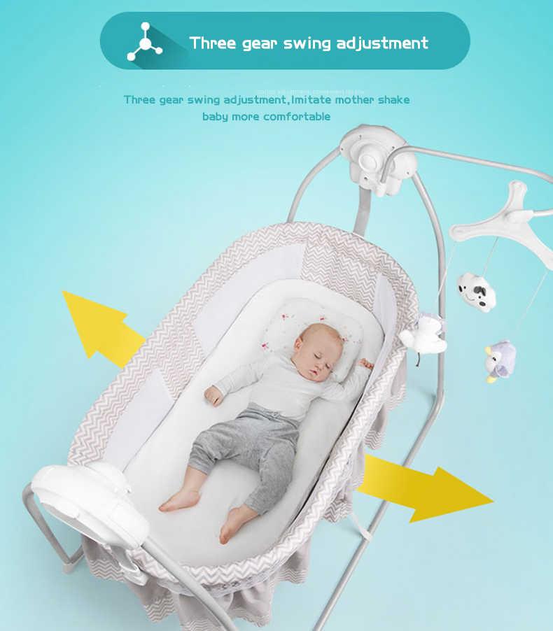 Baby electric cradle rocker newborn cradle Bluetooth shaker smart music baby bed