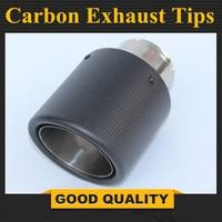 Ücretsiz kargo: 1 adet araba Styling paslanmaz çelik susturucu uç boru egzoz borusu susturucu evrensel karbon egzoz İpuçları