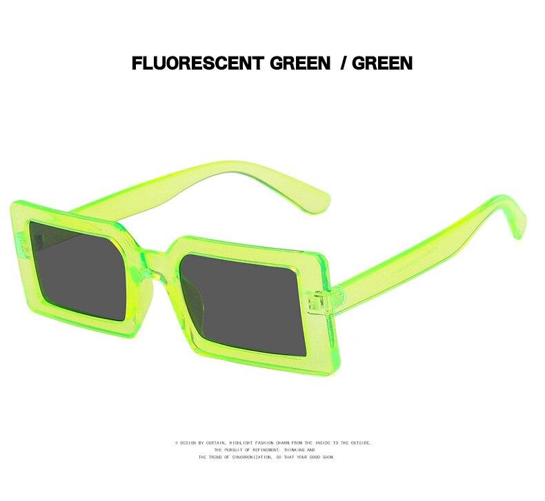 Fashion Sunglasses Designer Luxury Brand Rectangle Sunglasses Women Vintage Small 2021 trend Female Sun Glasses Shades For Women (10)