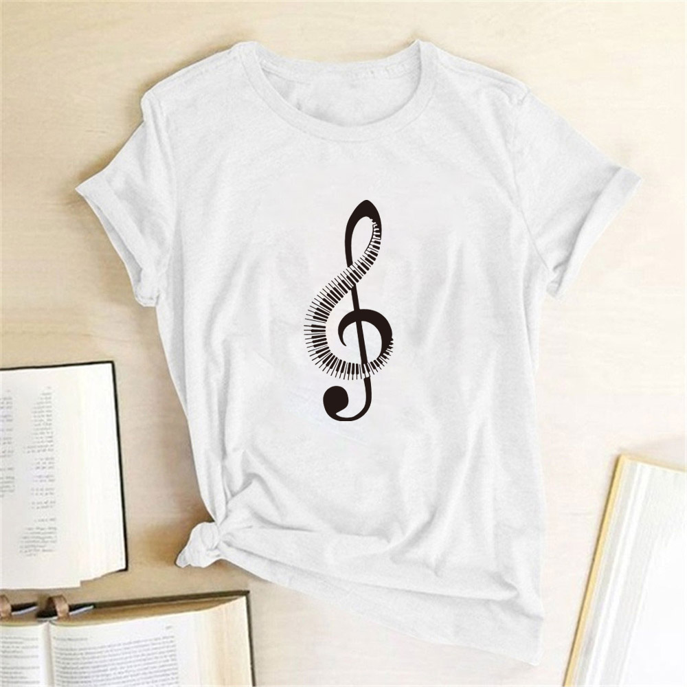 Fashion Ultra Music Festival Clothes Woman Summer T Shirt Short Sleeve Funny Printing Music Note T Shirt For Women High Quality