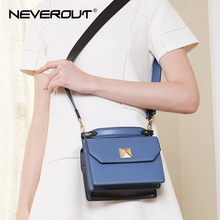 NEVEROUT Leather Bags for Women Colorblock Crossbody Bag Shoulder Sac Small Handbags Top-Handle Tote with Wide Shoulder Strap недорого