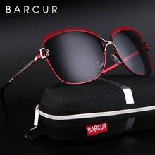 BARCUR, поляризационные женские солнцезащитные очки, градиентные линзы, круглые солнцезащитные очки, квадратные, Роскошные, брендовые