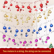 2M Christmas Colorful Ball Bell Pendant Big Five-pointed Star Ball String Hanging Roof Arrangement In Shopping Mall Hotel(China)