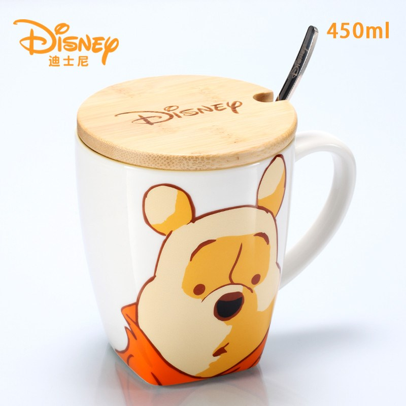 Disney Winnie The Pooh Cartoon Water Cup Coffee Milk Tea Breakfast Ceramic Mug Home Office Collection Cups Festival Gifts