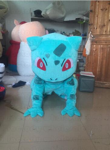 Image 2 - Pokemon Bulbasaur cartoon Mascot Costume adult size Fancy Dress Christmas carvinal Party for Halloween cosplayMascot   -