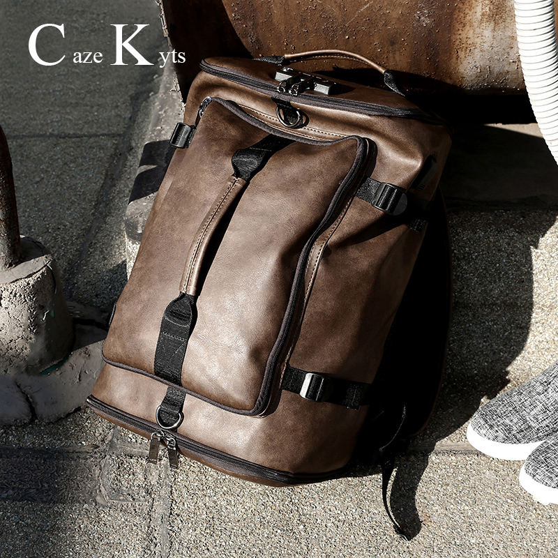 Men's Famous Brand Multi-function Large Capacity Retro Fashion Backpack School Student Bags Travel Women Bag Free Shipping