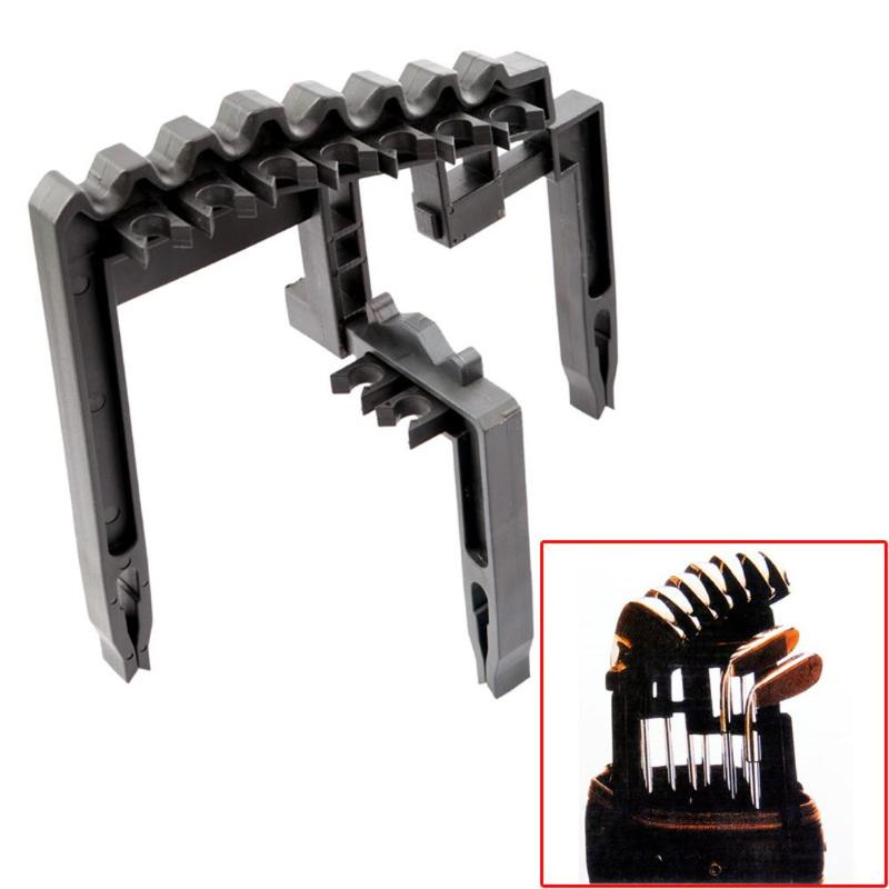 Golf 9 Iron Club ABS Shafts  Holder Stacker Fits Any Size Of Bag Organizer Golf Accessories Club Heads Black Of Bags Golf Holder