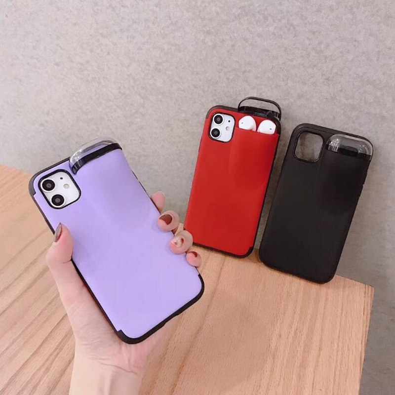 Candy Shockproof Cover Box For Airpods 1 2 Soft TPU Case For iphone 11 Pro Max XS Max XR X 10 6S 6 S Plus 7 8 Plus Case Fundas image
