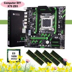 Discount motherboard bundle HUANANZHI X79-ZD3 motherboard dual M.2 SSD slots NVMe/NGFF CPU Xeon E5 1650 RAM 32G(4*8G) REG ECC