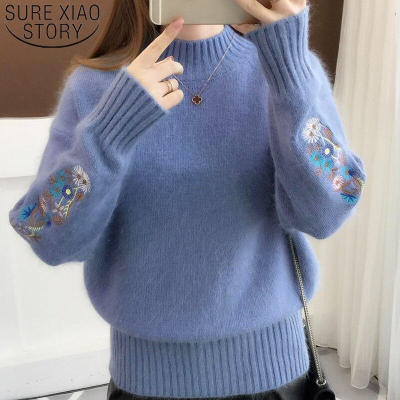 New Fashion 2019 Autumn Knitted Women Sweater Long Sleeve O-neck Casual Women Clothing Soft Women Blouse Women Tops 5459 50