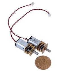 Редуктор постоянного тока 3 в-6 в 5 в 55 об/мин, медленная скорость, микро N20, полностью металлический редукторный двигатель, 1 шт., лидер продаж