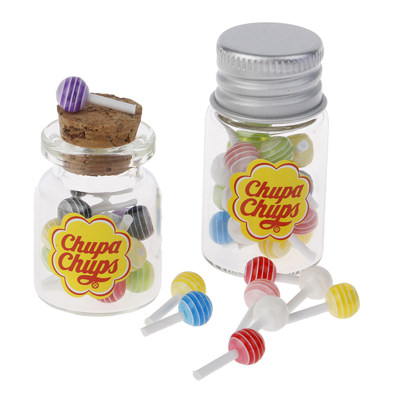 5Pcs Dollhouse Miniature Snacks Candy Lollipop Doll House Accessories Toy OJ
