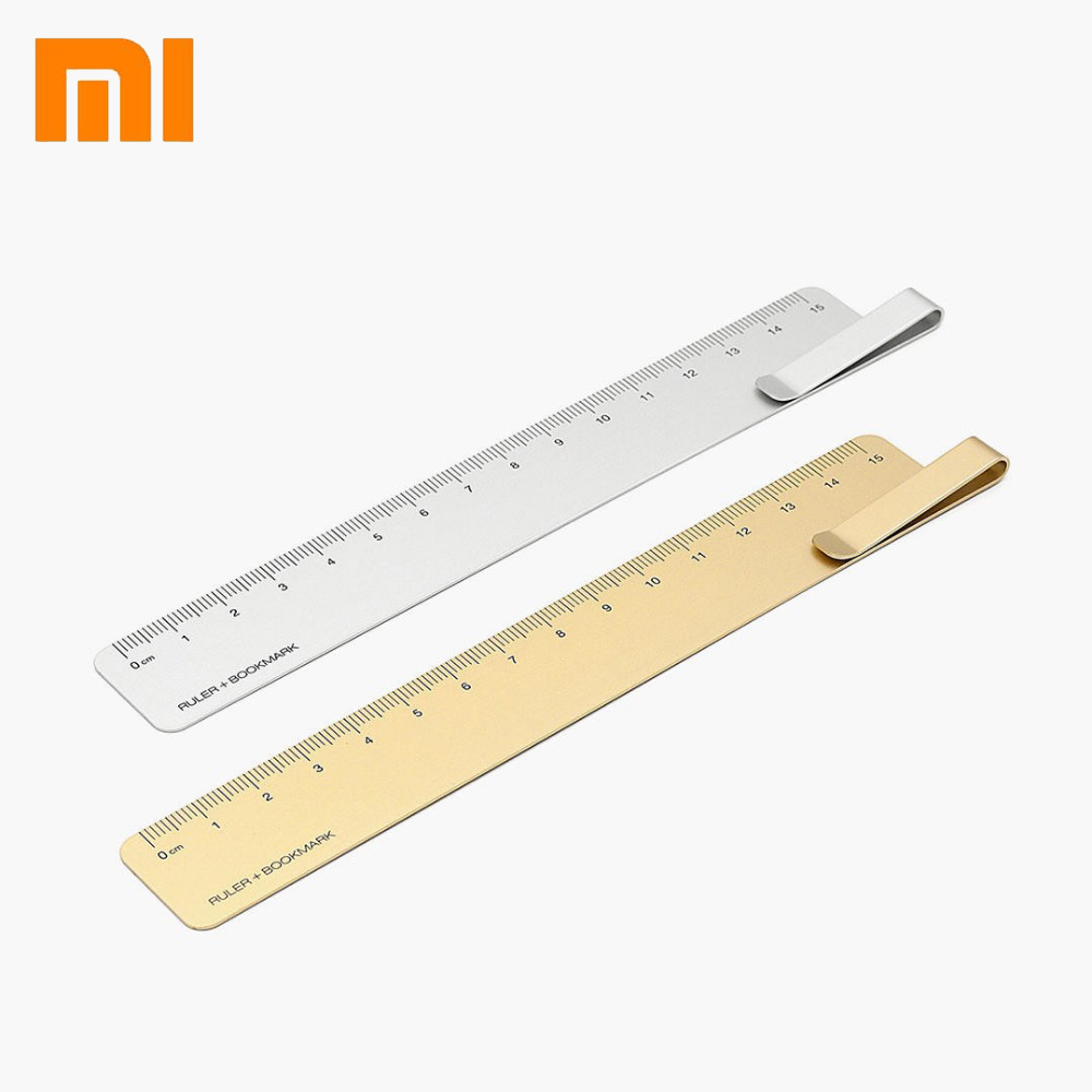 Xiaomi KACO Ruma Metal Ruler + Bookmark For School/Office/Home Gift Students/Friends ,Gold/Silver