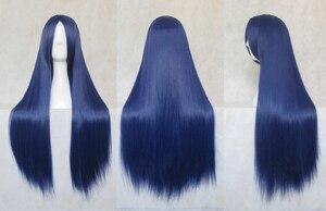 Kuroyuki hime Sonoda Umi Maizono Sayaka Wendy Marvell Cosplay perruques fibre haute température outremer cheveux longs + bonnet cheveux gratuit
