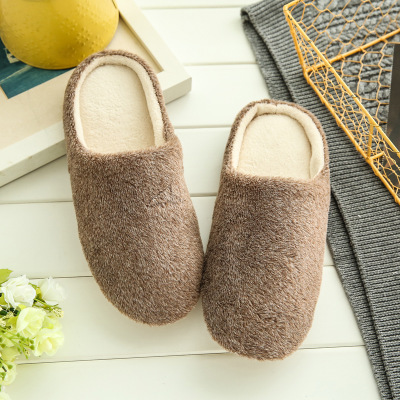 Soft Plush Home Slippers Women Men Indoor Cotton Shoes Big Size Winter Casual Sneakers  Floor Warm Furry Slipper