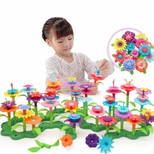 Flower Garden Building Toys - Build a Bouquet Floral Arrangement Playset for Toddlers and Kids Age 3, 4, 5, 6 Year Old Girls