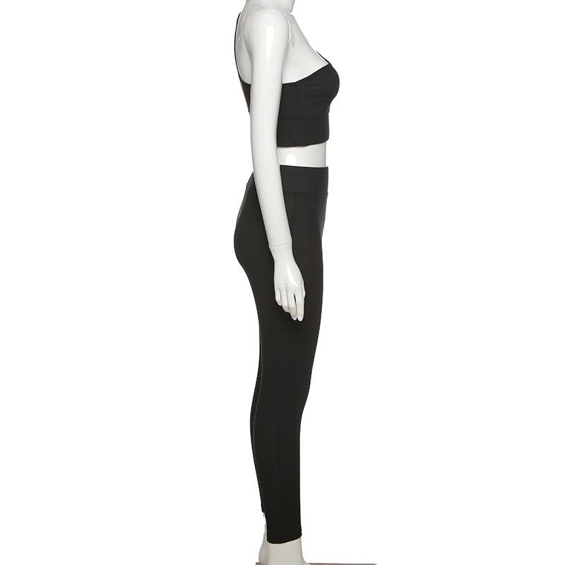 Женский трикотажный спортивный костюм облегающий комплект из