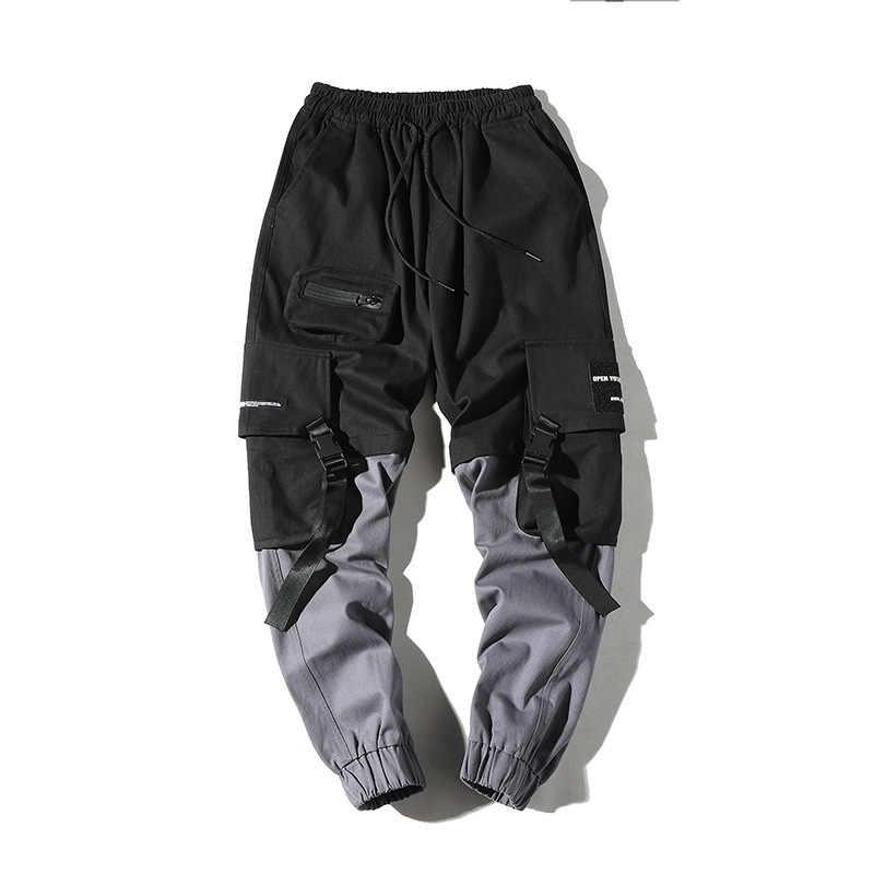 Pantalones lápiz de Hip Hop, pantalones militares de carga para hombres, pantalones Streetwear para hombres, pantalones a la altura del tobillo, 2019, cinta táctica para hombres para primavera