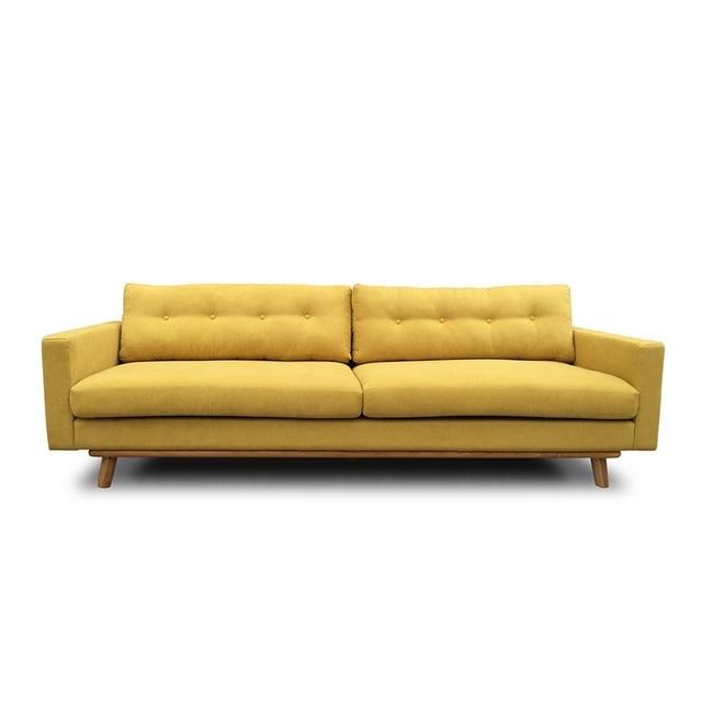 U-BEST Living Room 3 Seat Cinema Velvet Fabric Sofa Set 1