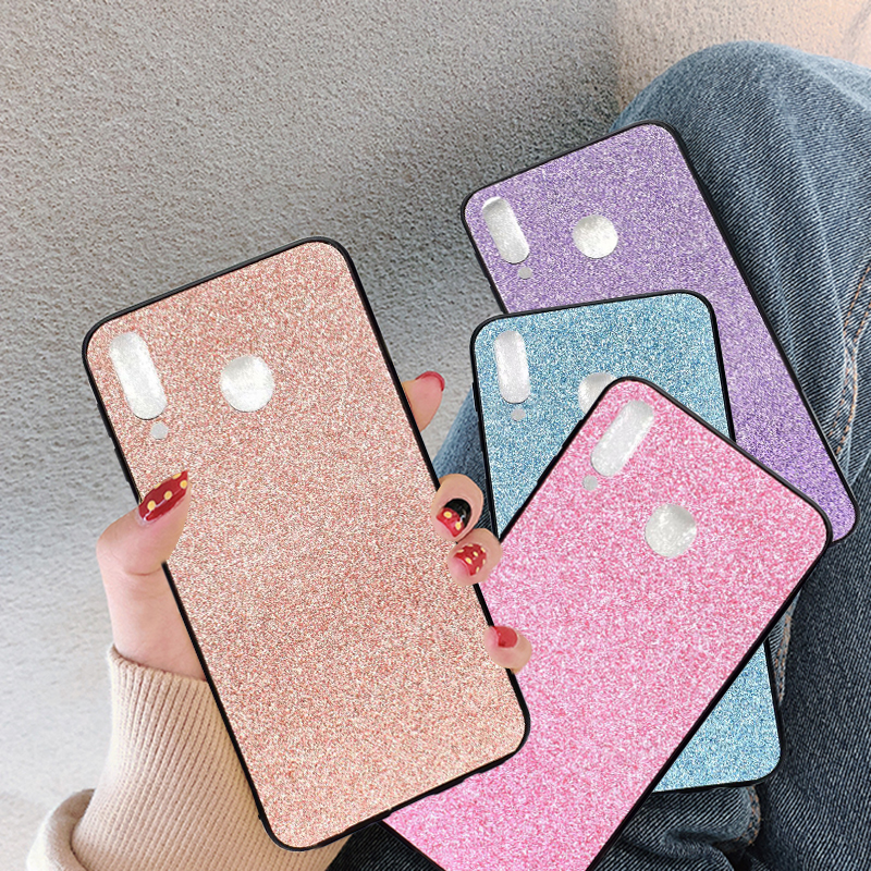 Luxury Gold Foil Glitter Powder Bling Case For Redmi Note 6 6A 7 Pro Rhinestone Shinning Sequins For iPhone X XS MAX XR Cover