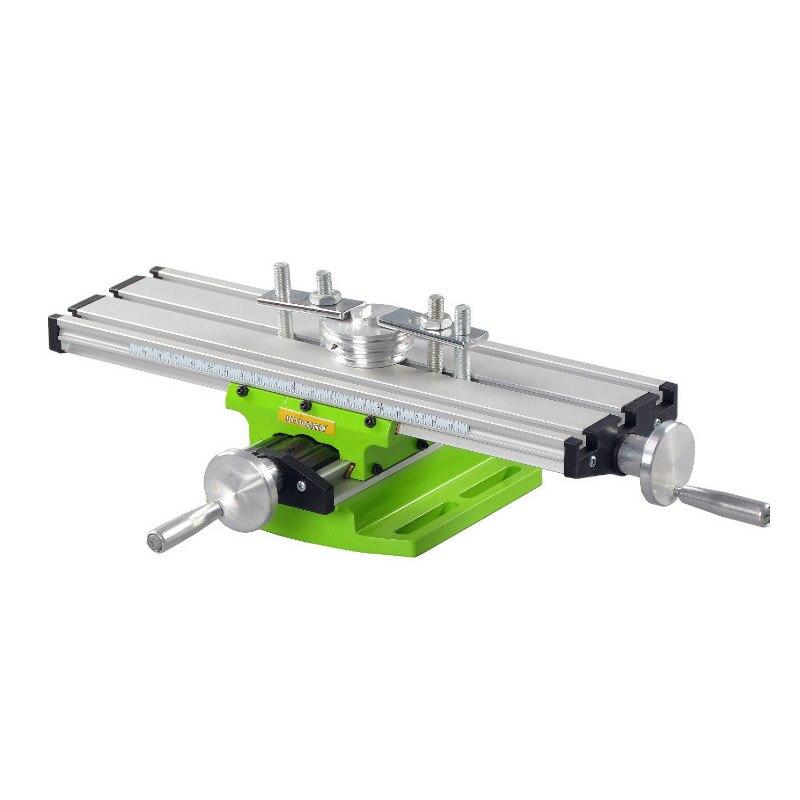 Multifunktions arbeitstisch Schraubstock Leuchte bohrer Fräsen Maschine X und Y-achse Einstellung Koordinieren tisch