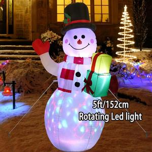 Image 2 - Ourwarm Opblaasbare Kerstman Nachtlampje Figuur Outdoor Tuin Speelgoed Christmas Party Decoraties Nieuwe Jaar 2019 150Cm Us Eu plug