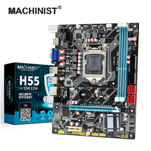 MACHINIST H55 Motherboard Socket LGA 1156 Supports DDR3 16G and I3/I5/I7 CPU PCI-Express USB2.0 Ports Mainboard Main Board
