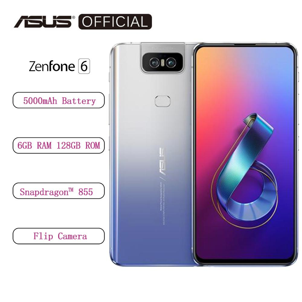 ASUS Original Global Version Zenfone 6 ZS630KL Snapdragon 855 Flip Camera 4800MP IMX586 5000mAh Quick Charge 4.0 OTA Update image