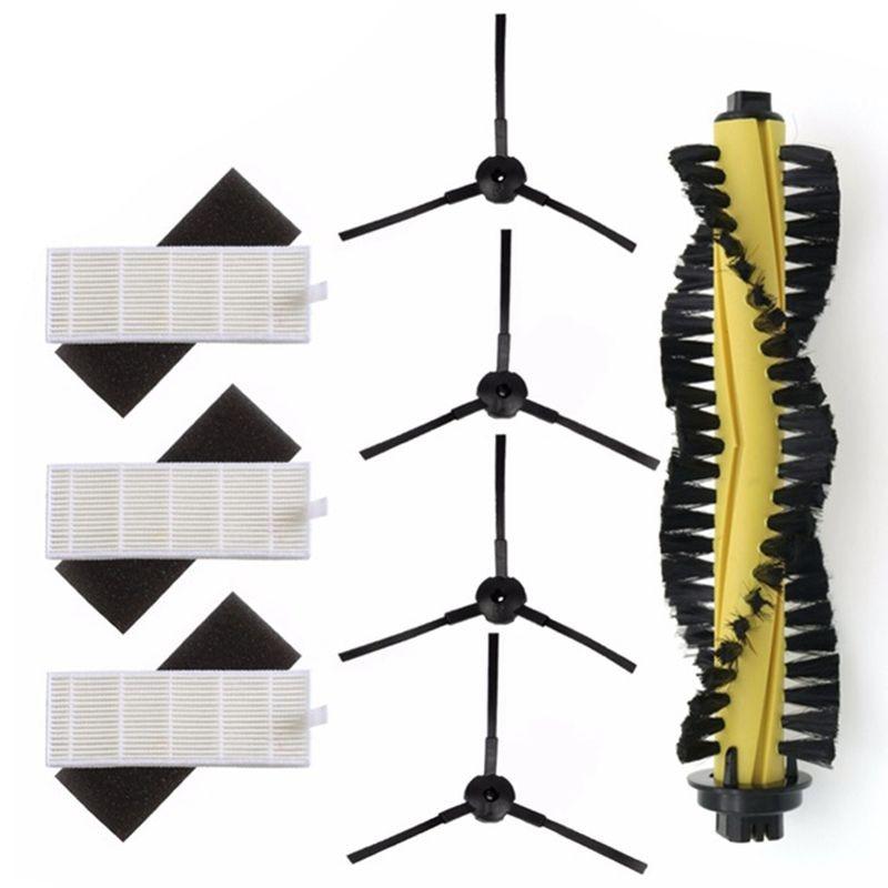 1xMain Brush+3xHEPA Filter+3xSponge+4xSide Brushes for Machine Vacuum Cleaner Parts polaris chuwi ilife a4 T4 X432 X430 X431|Vacuum Cleaner Parts| |  - title=