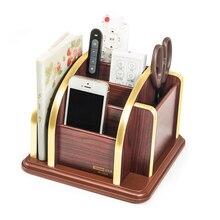 Office Supplies Stationery Pen Box Desk New Fashion Multi-function Bamboo Made Desk Storage Box Pen holder Glosen C2028 цена 2017