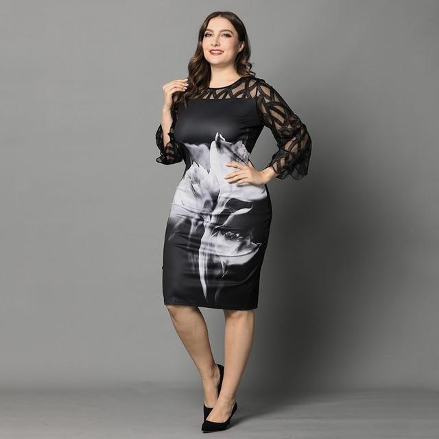 Large Floral Lace Dress 5