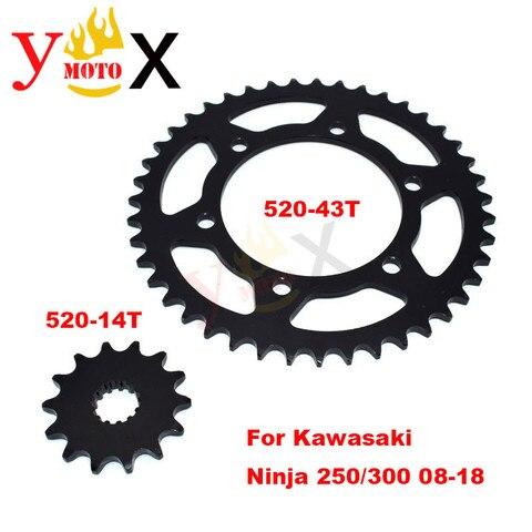 ninja 250 300 front rear set 520 43t 520 14t cadeia de engrenagem da roda